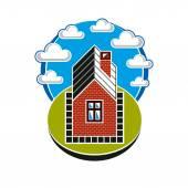 Jednoduchý dům ilustrace