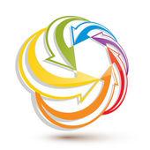 Arrows abstract loop symbol vector conceptual pictogram templat