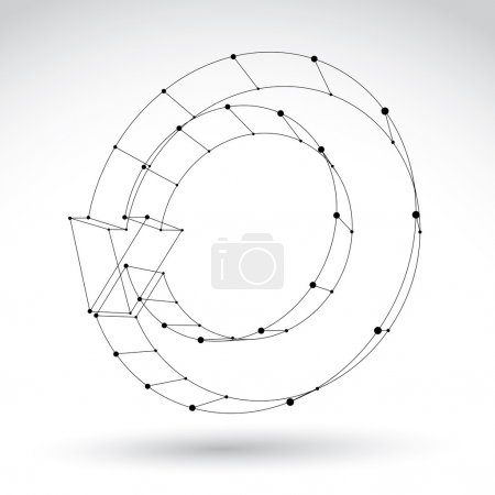 3d mesh black stylish web update symbol isolated on white backgr