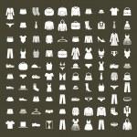 Clothes icon vector set, vector collection of fash...