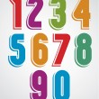 Extensive colorful animated rounded numbers with w...