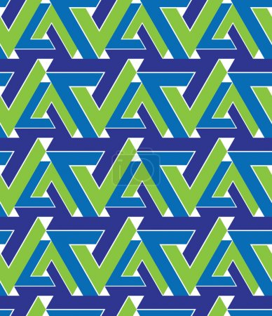 Regular extraordinary geometric seamless pattern with overlappin