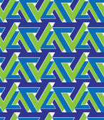 Regular extraordinary geometric seamless pattern with overlappin