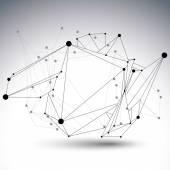 """Постер, картина, фотообои """"абстрактная 3-я структура многоугольный векторный объект сети, черный и"""""""