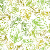 Vintage style seamless background with leaves perfect vector wallpaper or web background pattern