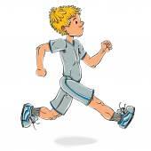 Běh teen boy