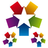 Star icon created with five arrows