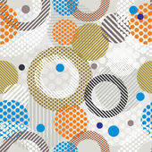 Abstract retro style seamless pattern