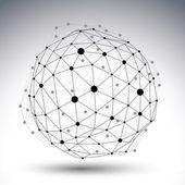 3D vector abstract design template polygonal complicated contra