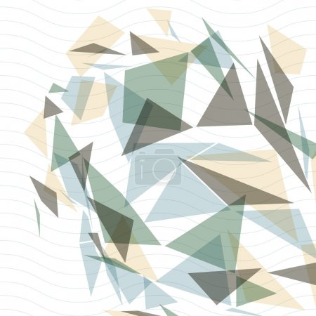 Geometric vector abstract 3D complicated op art backdrop, eps10
