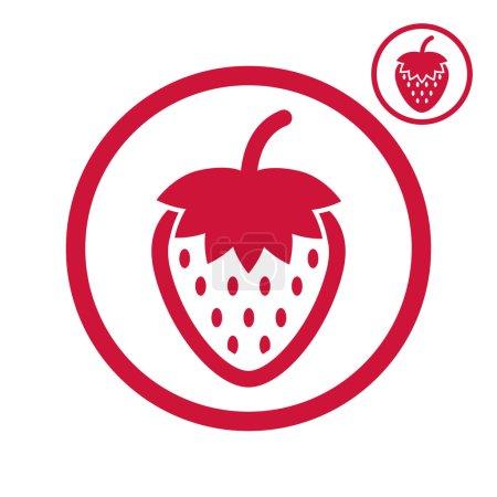 Strawberry vector icon.