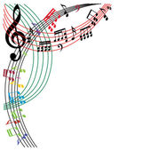 Music notes background stylish musical theme composition vector illustration