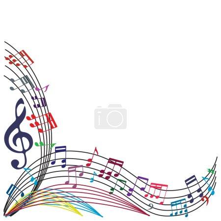 Illustration pour Notes de musique fond, composition élégante de thème musical, illustration vectorielle . - image libre de droit