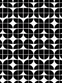 Black and white abstract geometric seamless pattern contrast re