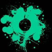 Colorful watercolor graffiti splash overlay elements expressive