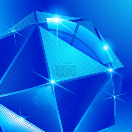 Contemporary background with plastic pixel dimensional sphere cr