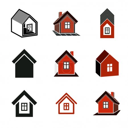 Different houses icons