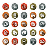 Houses abstract icons can be used in advertising and as branding in real estate business and construction Set of simple buildings  architecture theme graphic symbol Room for the newlyweds