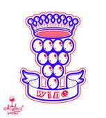 Grape vine illustration w