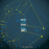 Čtyři sided abstraktní objekty sítě