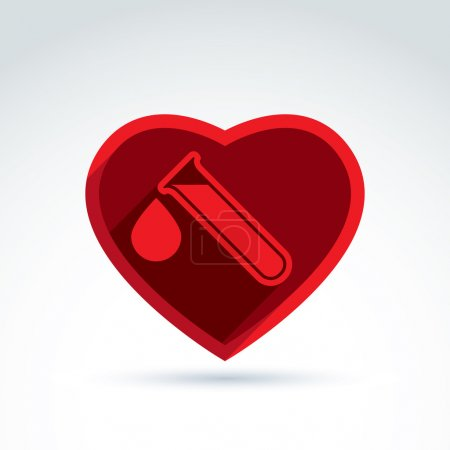 Donor blood heart  icon