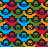 Seamless background with colorful  faces
