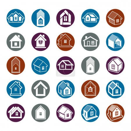Houses abstract icons