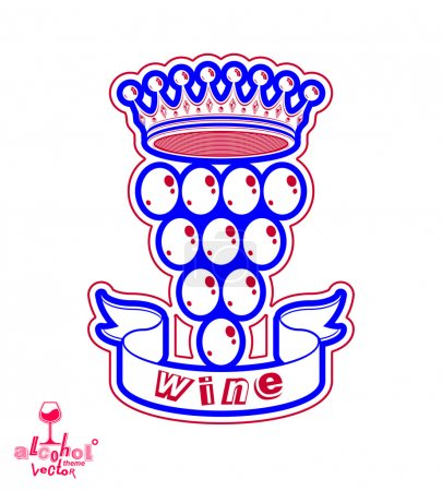 Grape vine with royal crown