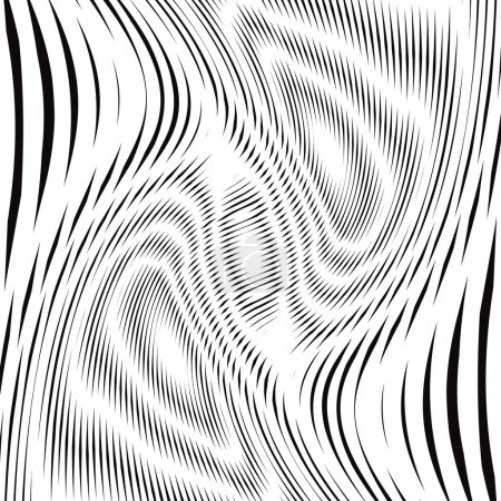 Optical illusion, graphic moire backdrop