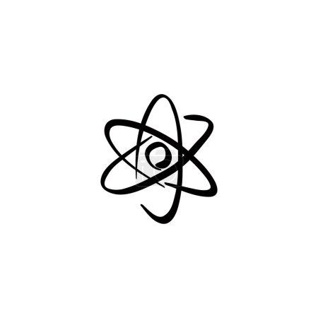 Illustration pour Élément abstrait géométrique vectoriel noir isolé sur fond blanc . - image libre de droit