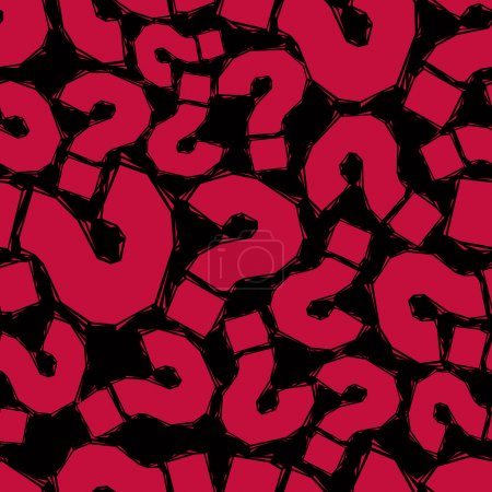 Red question marks pattern