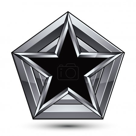 Silvery blazon with pentagonal black star