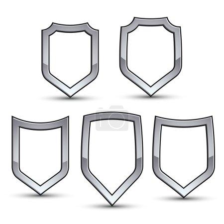Set of heraldic emblems