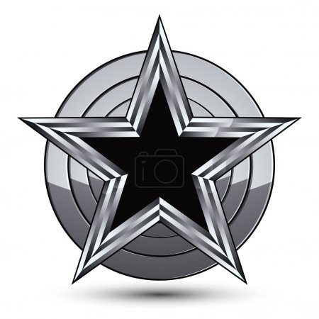 Silvery blazon with pentagonal star