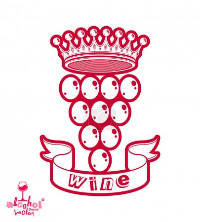 Winery symbol with royal crown
