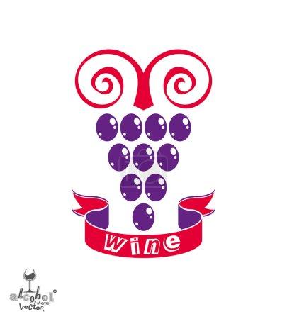Stylized grape vine symbol