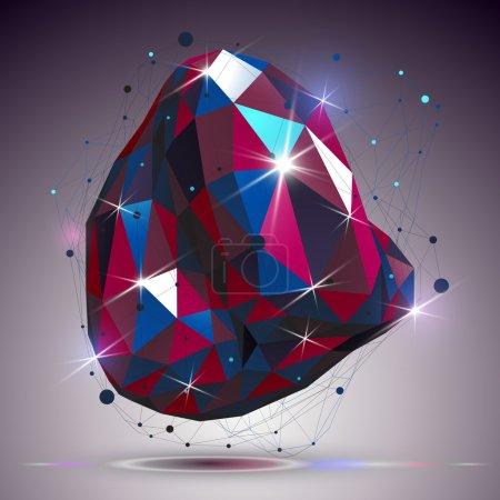 Asymmetric glossy shape