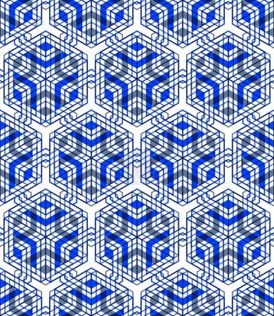 Seamless optical ornamental pattern