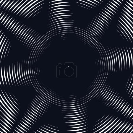 Decorative lined hypnotic contrast background