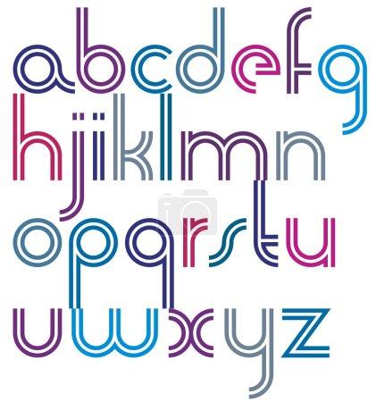 Letras a rayas dobles