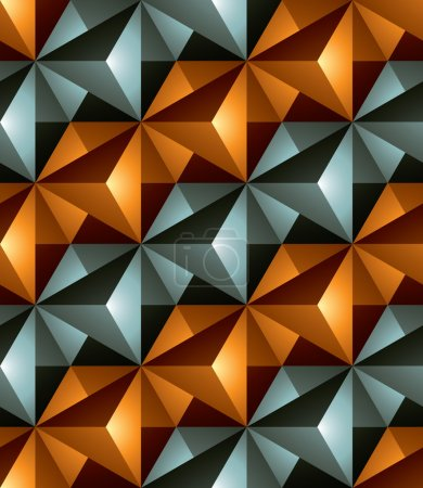 Seamless pattern with 3d cubes.