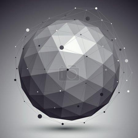 3d orbital figure with wire mesh
