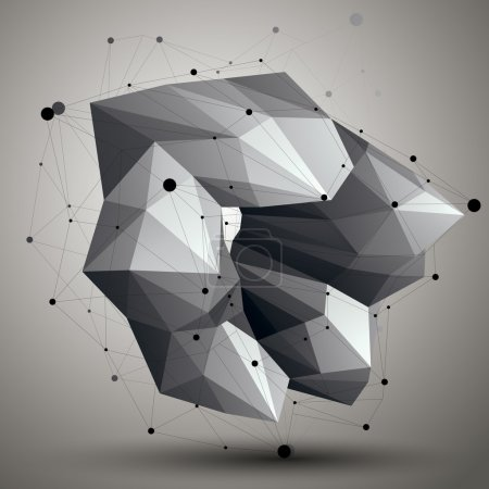 abstract object with connected lines and dots