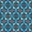 Colorful illusive abstract seamless pattern with o...