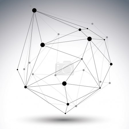 Geometric black and white polygonal structure