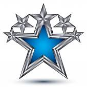 Royal blue star with silver outline