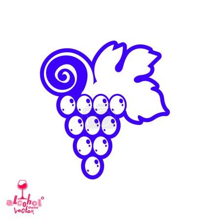 Stylized grape vine