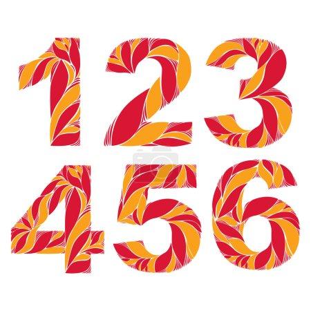 Vintage ornamental numbers.