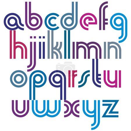 Letras minúsculas brillantes
