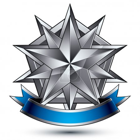 Heraldic template with complicated silver star